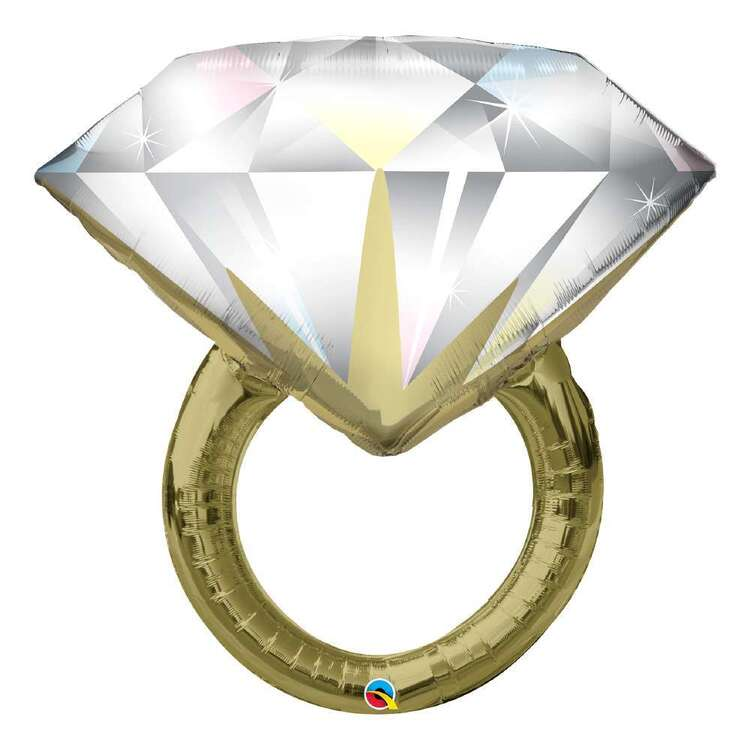 Qualatex Diamond Wedding Ring Shaped Foil Balloon