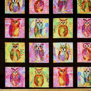 P & B Textiles Digital Majestic Owls Cotton Panel