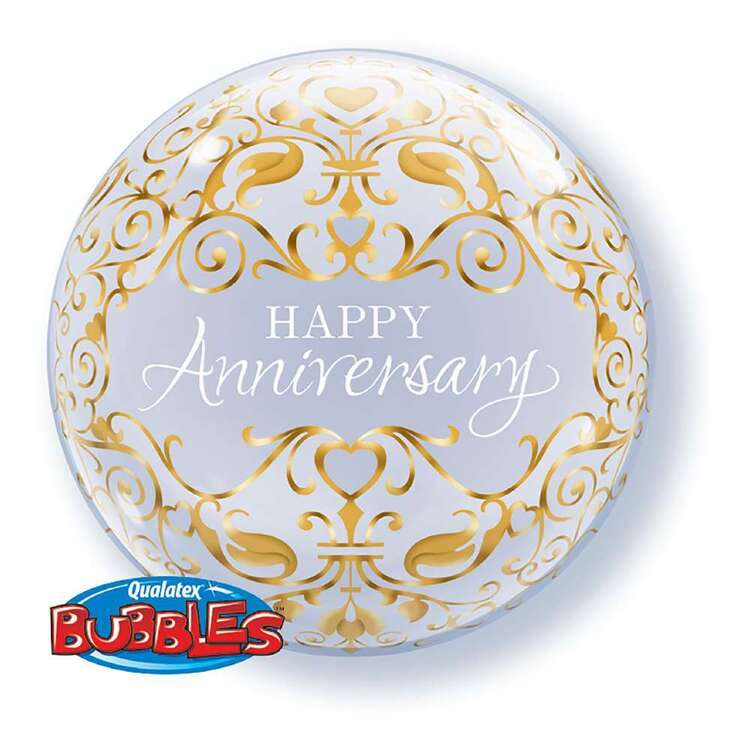 Qualatex Happy Anniversary Bubble Balloon