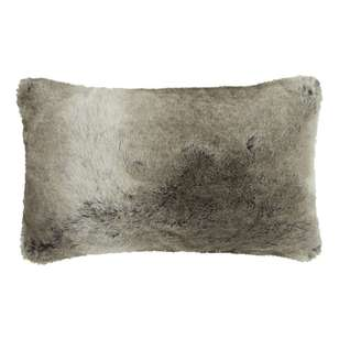 Bouclair Faux Fur Wolf Lumbar Cushion