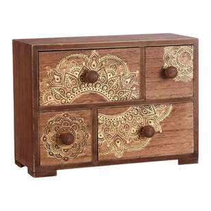 Ombre Home Sakura Bloom Mandala Wooden Draws