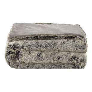 Bouclair Faux Fur Wolf Throw