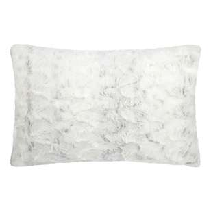 Bouclair Faux Fur Hare Lumbar Cushion