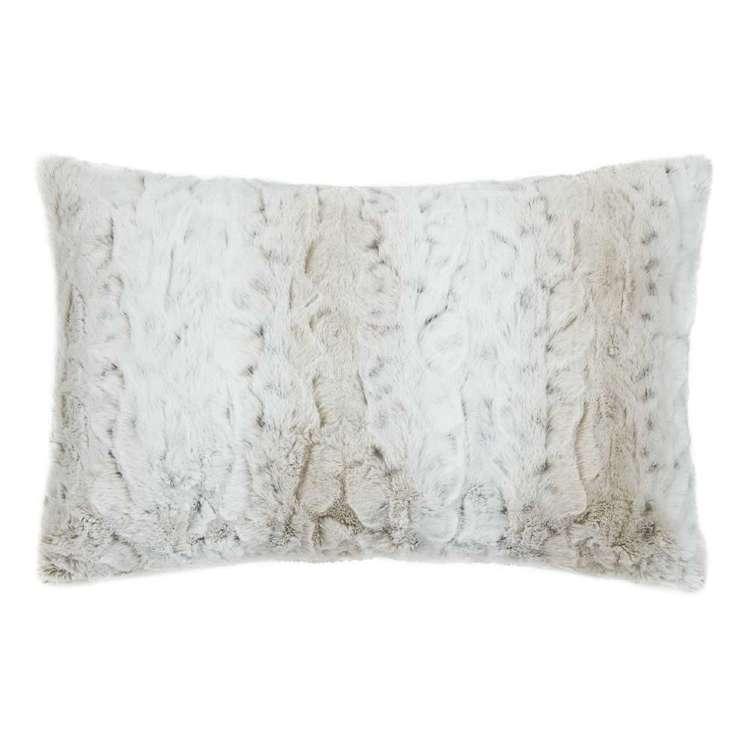 Bouclair Faux Fur Lynx Lumbar Cushion