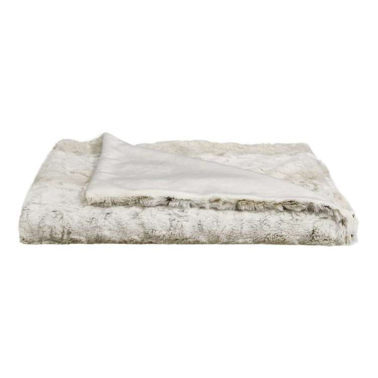 Bouclair Faux Fur Lynx Throw