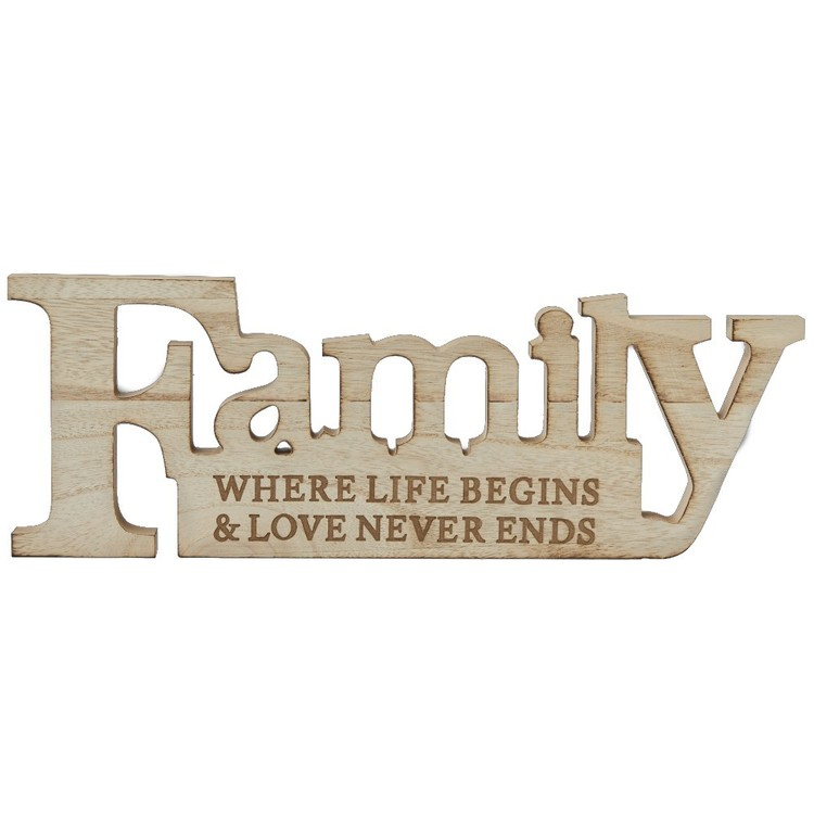 Bouclair Faux Fur Family Sign