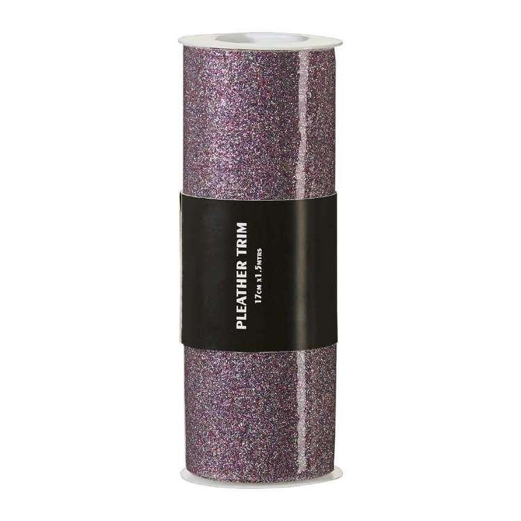 Smooth Glitter Pleather Trim