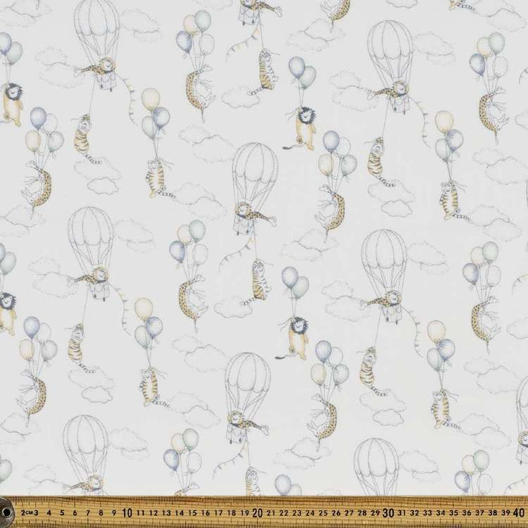 Fly High Printed 138 cm Muslin Fabric
