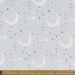 Sweet Dreams Printed 135 cm Muslin Fabric