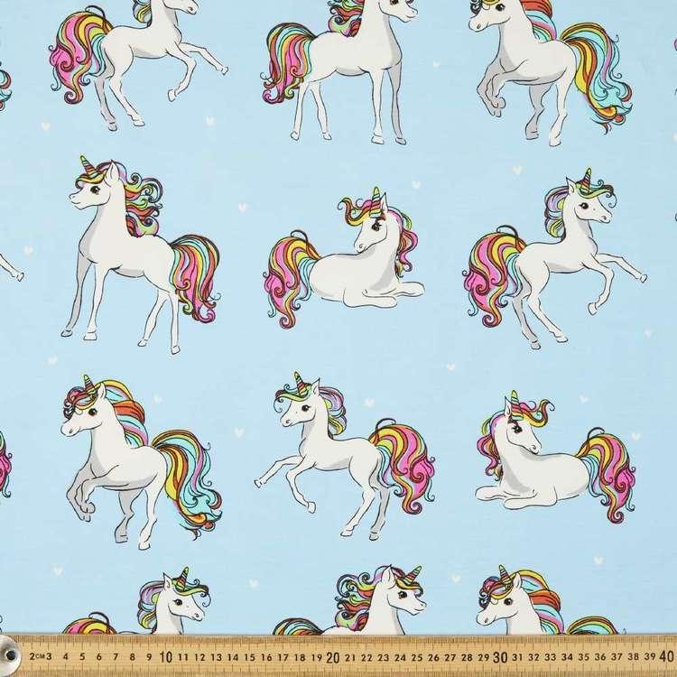 Unicorn Friends Printed 148 cm Cotton Spandex Fabric