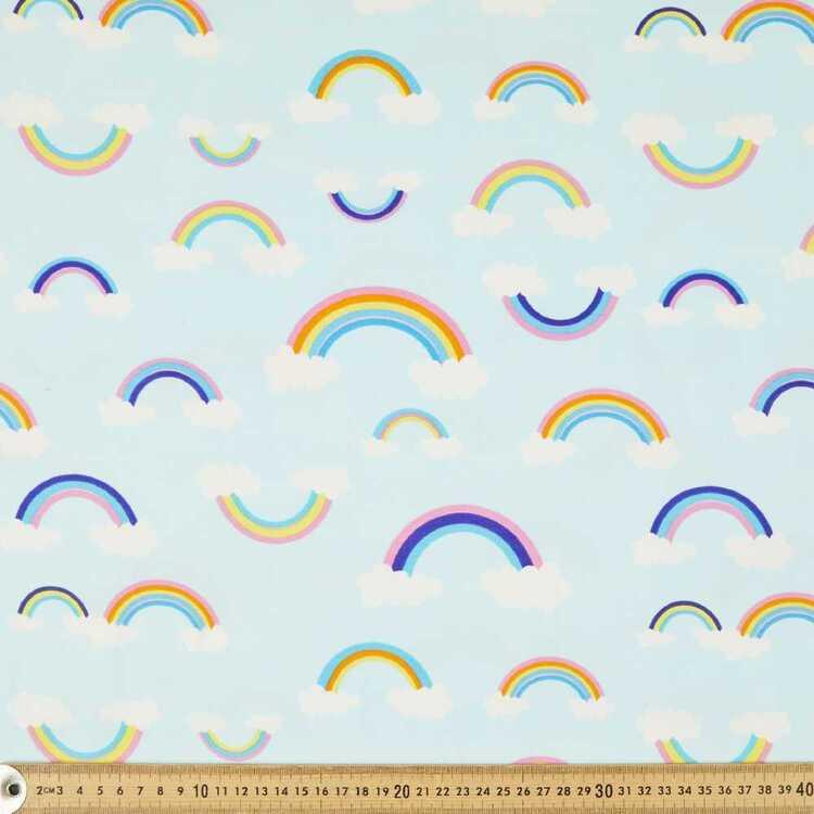 Rainbows Printed 148 cm Cotton Spandex Fabric