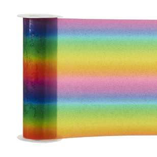 Rainbow Plastic Pleather Trim