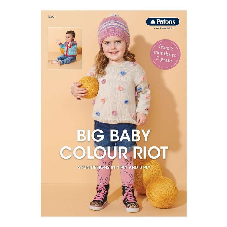 Patons Big Baby Colour Riot Book