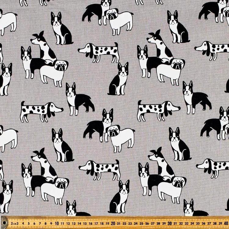 Puppy Pals Printed Cotton Duck Fabric