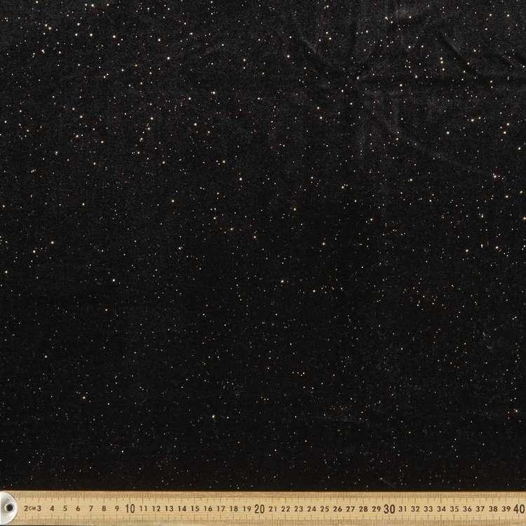 Plain Glitter 145 cm Designer Velvet Fabric