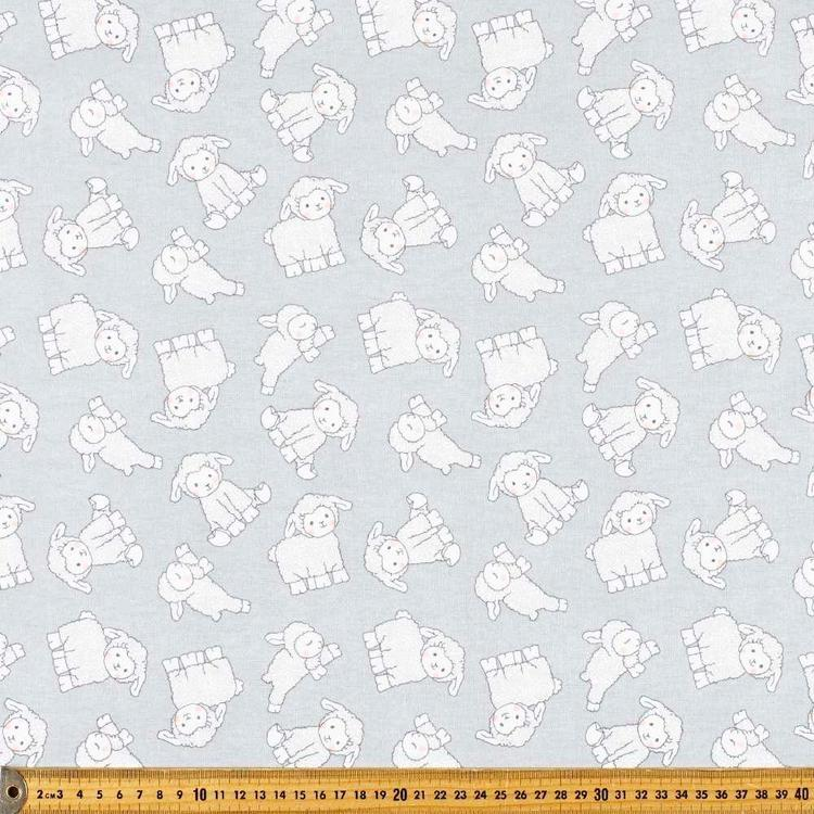 Little Lamb Printed 112 cm Flannelette Fabric