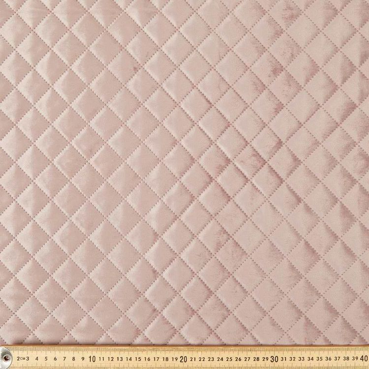 Plain Designer Quilted Velvet Fabric