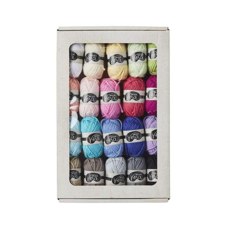 Moda Vera Bon Bon Box Of Minis Cotton Yarn