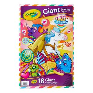 Crayola Uni Creatures Giant Colouring Pages