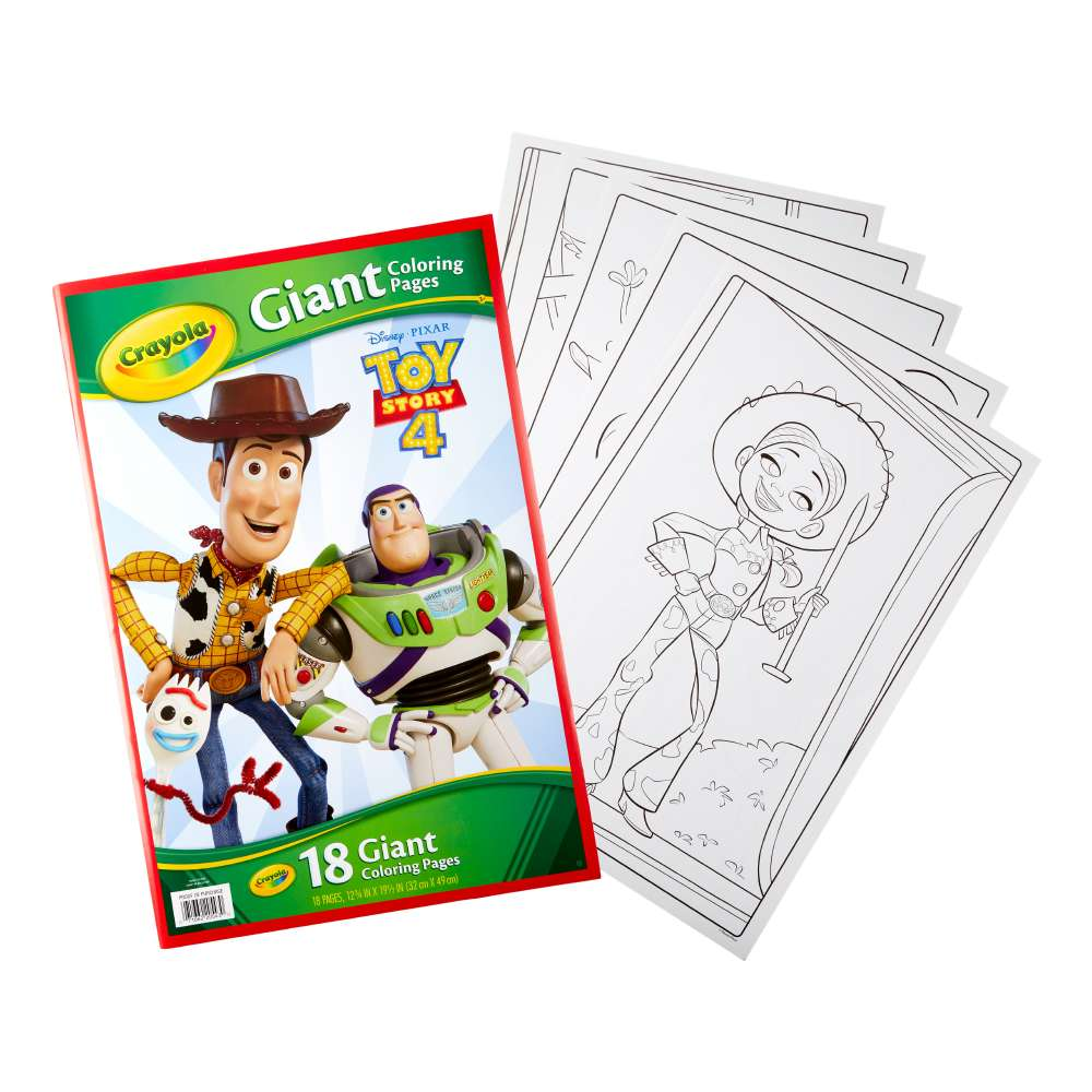 NEW Crayola Toy Story 4 Giant Colouring Pages By Spotlight ...