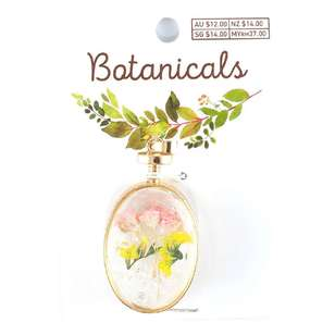 Botanicals Faceted Oval Pendant