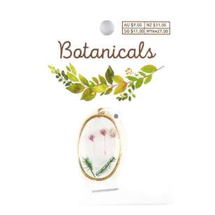 Botanicals Framed Oval Pendant