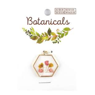 Botanicals Framed Hexagon Pendant
