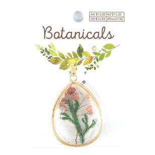 Botanicals Faceted Tear Drop Pendant