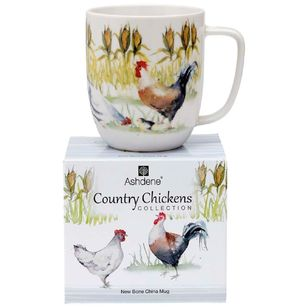 Ashdene Country Chickens Corn Field Mug