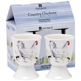 Ashdene Country Chickens Chicken 2 Pack Egg Cup