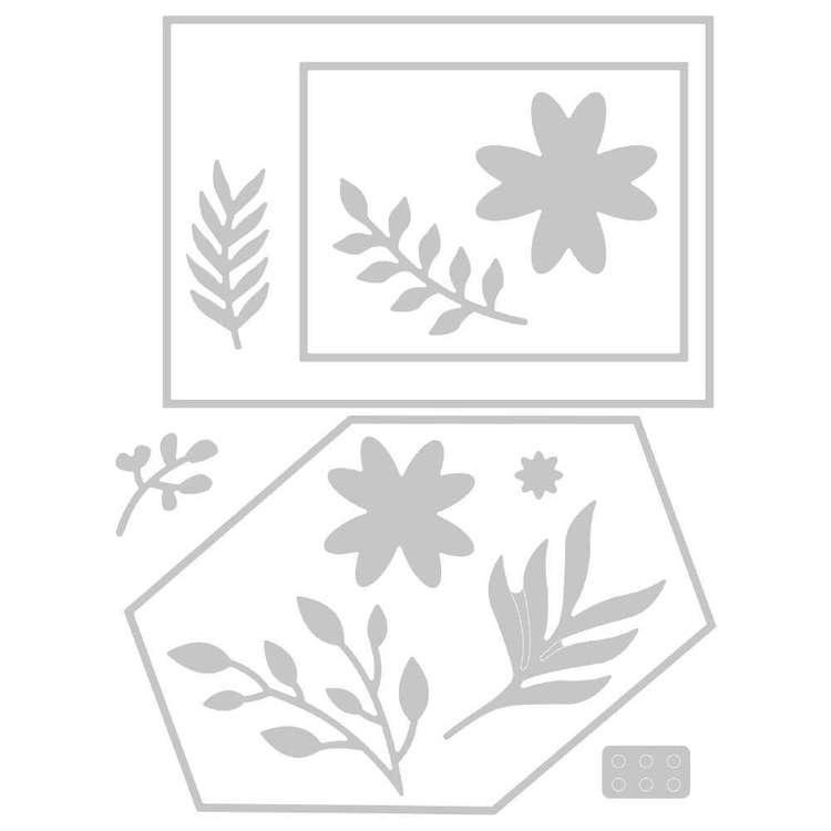 Sizzix Thinlits Lisa Jones Geo Floral Die Set 12 Pack