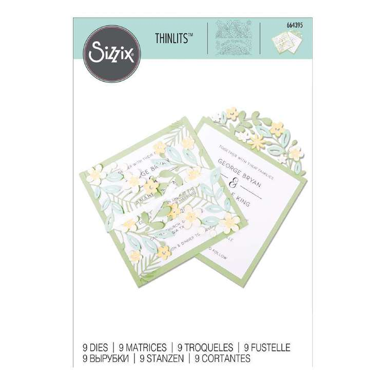 Sizzix Thinlits Jennifer Ogborn Floral Edge Die Set 9 Pack