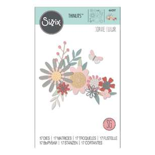 Sizzix Thinlits Sophie Guilar Bold Floral Die Set 17 Pack