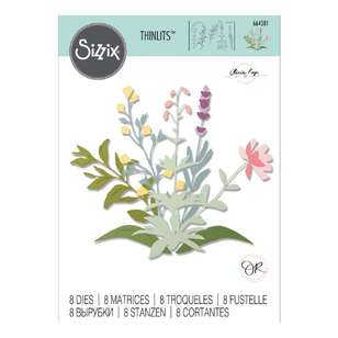 Sizzix Thinlits Olivia Rose Spring Stem Die Set 8 Pack