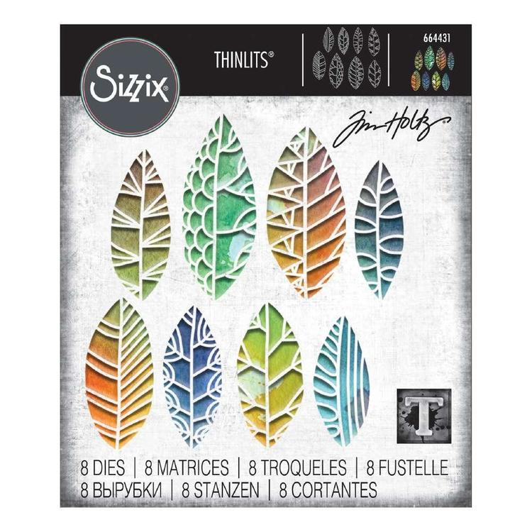 Sizzix Thinlits Tim Holtz Cut Our Leaves Die Set 8 Pack