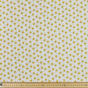 Yellow Daisies Cotton Fabric