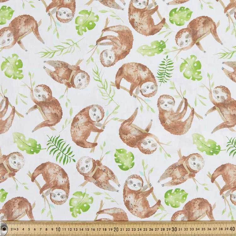 Sloth Toss Cotton Fabric