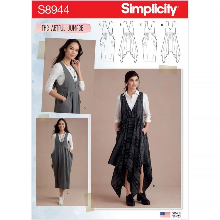 Simplicity Pattern S8944 Misses' Jumpers