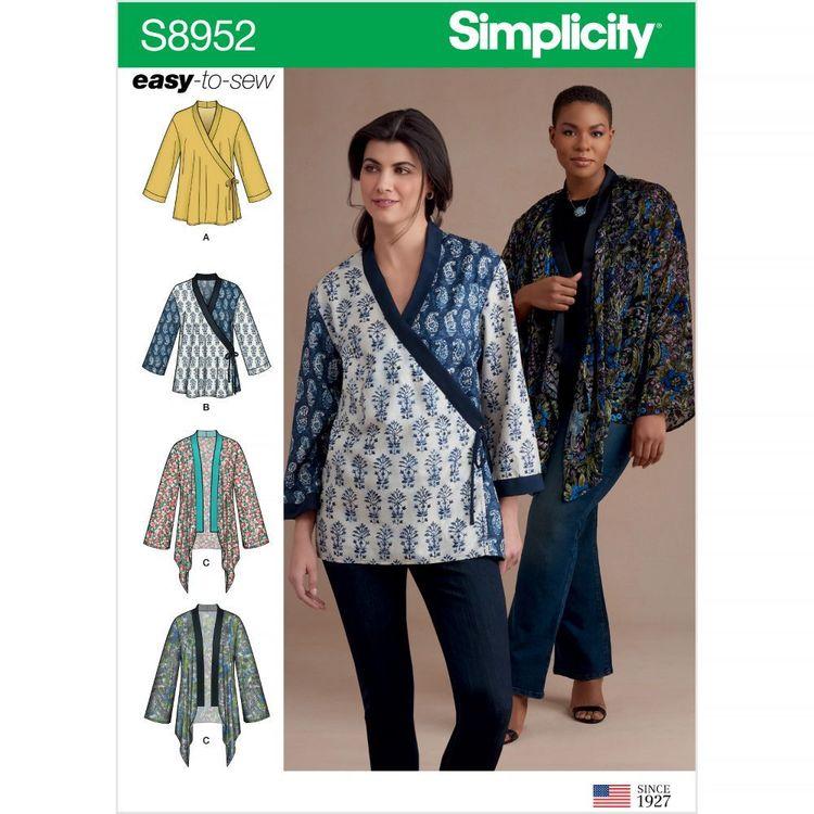 Simplicity Pattern S8952 Misses' Kimono Jackets