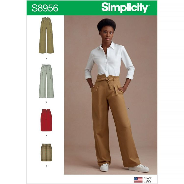 Simplicity Pattern S8956 Misses' Pants and Skirts