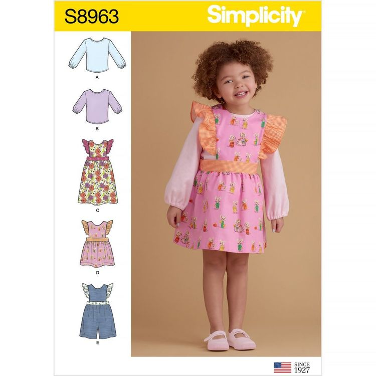 Simplicity Pattern S8963 Toddlers' Separates