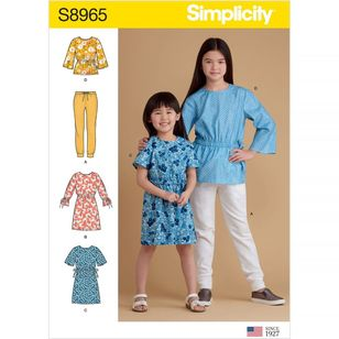 Simplicity Pattern S8965 Children's and Girls' Separates