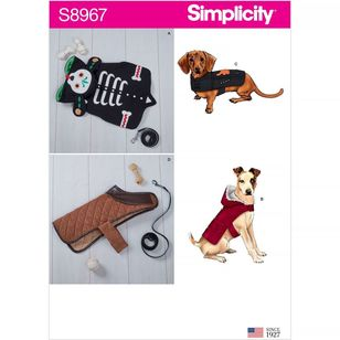 Simplicity Pattern S8967 Dog Coats