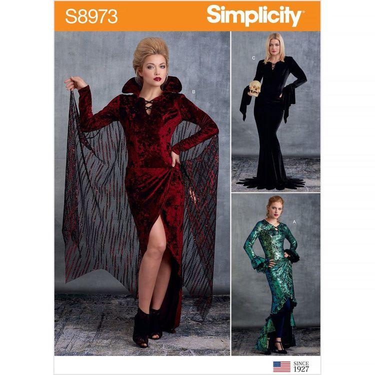 Simplicity Pattern S8973 Misses' Halloween Costume