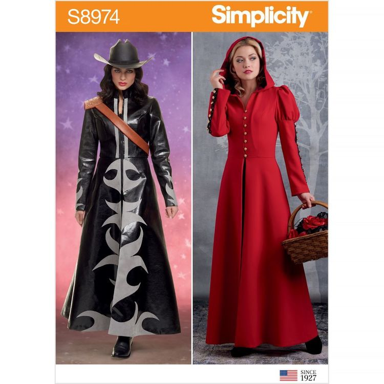 Simplicity Pattern S8974 Misses' Cosplay Coat Costume