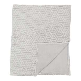 Brampton House Geometric Fleece Blanket