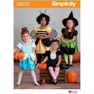 Simplicity Pattern S8976 Toddler's Assorted Halloween Costumes