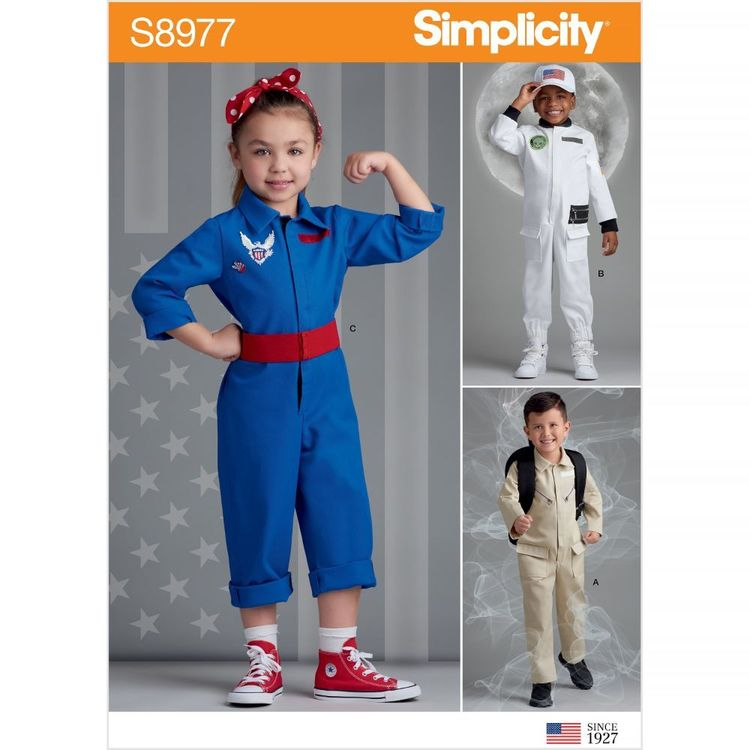 Simplicity Pattern S8977 Children's American Figures Costumes