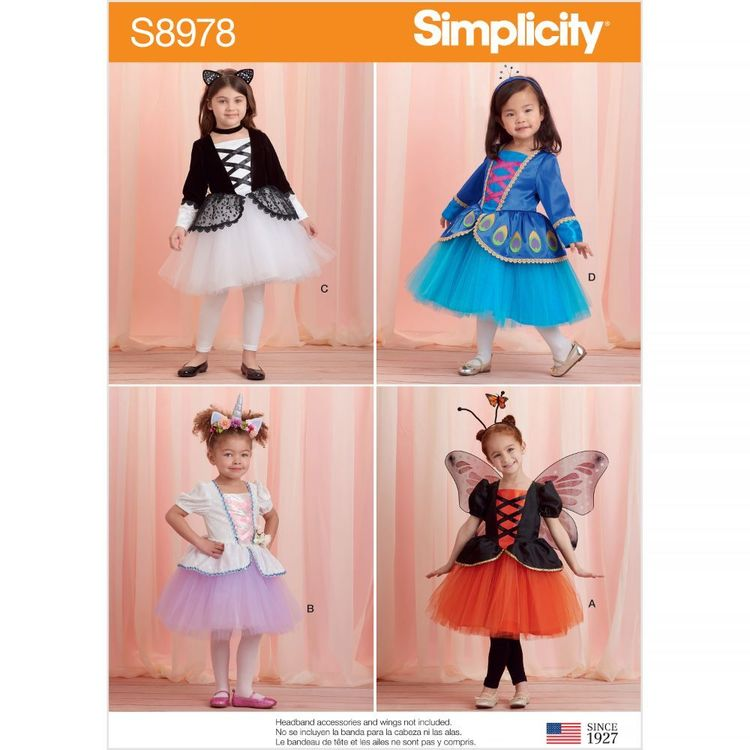 Simplicity Pattern S8978 Toddlers' and Children's Halloween Costumes
