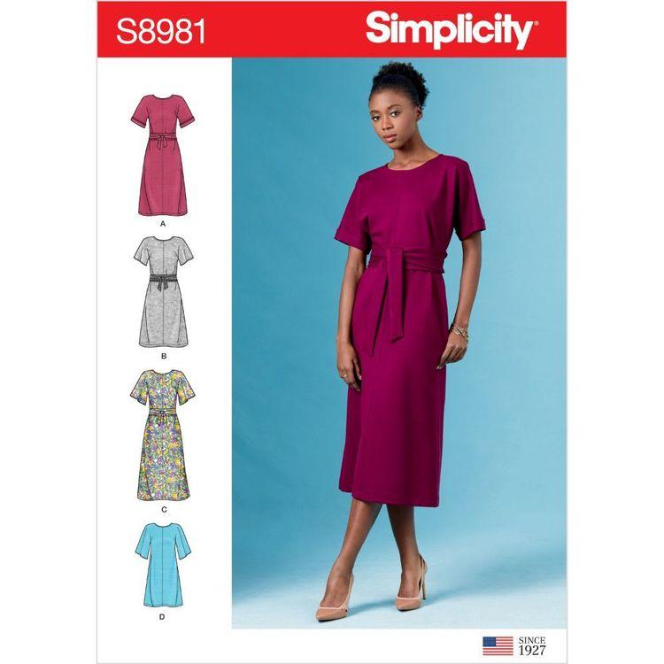 Simplicity Pattern S8981 Misses' Front Tie Dresses